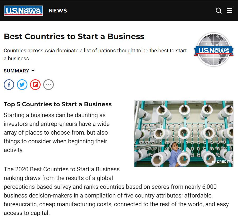 ไทยติดอันดับ 1 ของโลก ประเทศเหมาะสมการเริ่มต้นธุรกิจ ปี 2563