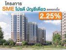 สินเชื่ออพาร์ทเม้นท์ 2563 โครงการ SME โปรดี บัญชีเดียว